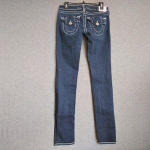 True Religion Julie Big T Low Rise Skinny Jeans